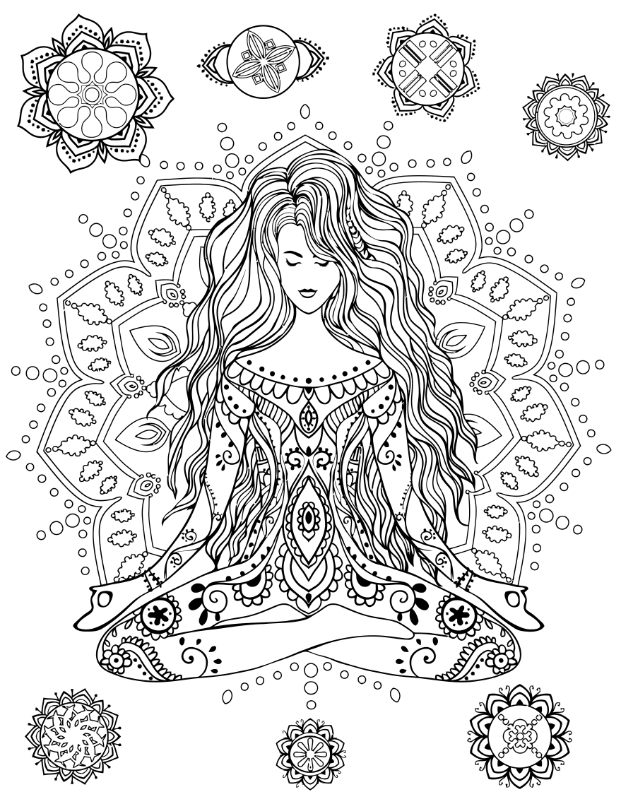 Coloring pages hippie - Get Your Groove On An Absolutely Fabulous Coloring Book Vintage Pen Press